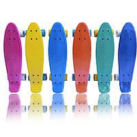 """Скейт пенни борд penny board Shark (пенни борд 22""""): 6 цветов, нагрузка до 50кг"""