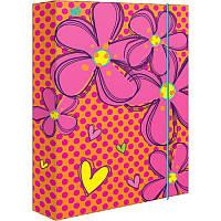 Папка для труда картонная «Flowers» 1 Вересня 491289, А4