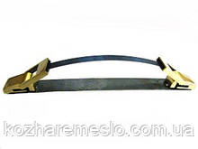 Ручка для сумки складная металлическая (под обтяжку) антик