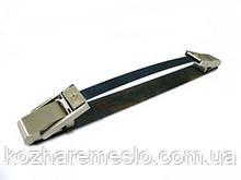 Ручка для сумки складная металлическая (под обтяжку) никель