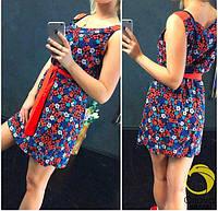 Женское летнее платье - цветочный принт РЛ2059