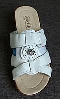 Женские нарядные кожаные сабо на липучке Milano,размеры 37-41 V866