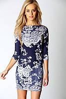 Короткое облегающее платье в цветочный принт Boohoo
