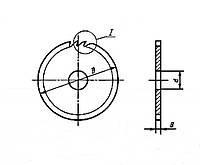 Пила дисковая 400х2,5х50 Z=60 9ХФМ СССР (косой зуб)