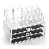 Косметичка Makeup Cosmetics Organizer Drawers Grids Display Storage Clear Acrylic v