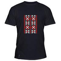 Стильная мужская летняя футболка с символикой Вишиванка