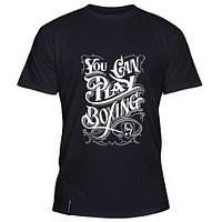 Стильная летняя мужская футболка You can play boxing