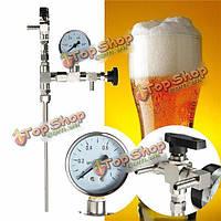 Счетчик манометр бутылки пива наполнитель для доморощенного co2 пива