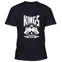 Стильная летняя мужская футболка Kings never die