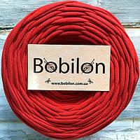 Пряжа трикотажная Бобилон 5-7 мм, цвет красный мак