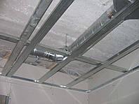 Монтаж стеновых и потолочных каркасов