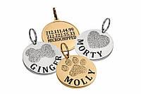 Медальон (адресник, жетон) с гравировкой для собаки/кошки