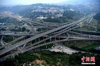 У Китаї завершилося будівництво п'ятирівневої автомобільної дороги