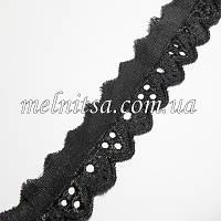 Кружево-прошва,  3 см, цвет черный