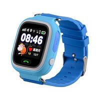 Детские умные часы с gps трекером Q100 голубые