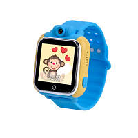 Детские умные часы с gps трекером и камерой Q200 голубые