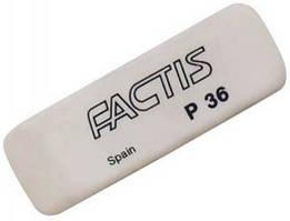 Ластик, резинка стирательная P36, скошенный Factis