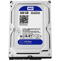 Жесткий диск 3.5 Western Digital Blue 500GB 5400rpm 64МB SATA III (WD5000AZRZ)