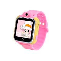 Детские умные часы с gps трекером и камерой Q200 розовые