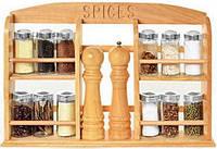 Набор для специй на деревяной подставке Besser 10123
