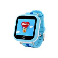Детские умные часы с gps трекером Q150 голубые