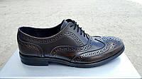 Мужские кожаные туфли Senator dark chocolate , фото 1