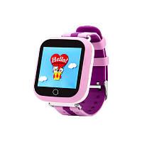 Детские умные часы с gps трекером Q150 розовые