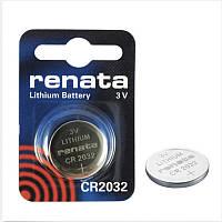 Батарейка дисковая Renata CR2032 Lithium, 3V