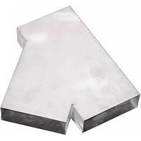 Тройник прямоугольный 45º оцинкованный 150/50