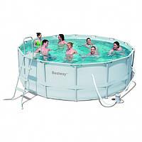 BestWay 56266 каркасный бассейн 488 х122 см., фильтр- насос, лестница, подстилка, тент