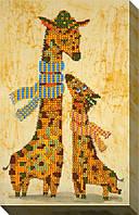 """Схема для вышивки бисером """"Жирафы"""""""