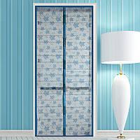 Антимоскитная сетка штора на двери от насекомых 100*210 с блёстками