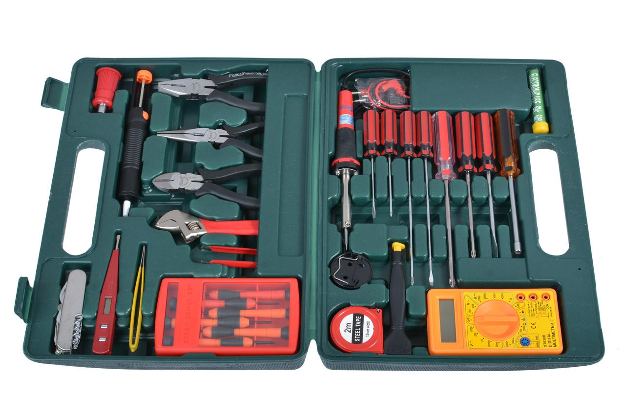 Набор для пайки ZD-972 в чемодане (паяльник, подставка, наконечники)