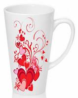 Чашка с Вашим дизайном LATTE высокая (конус), фото 1
