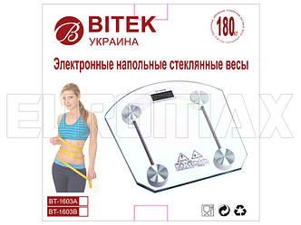 Весы бытовые стеклянные квадратные BITEK 180кг YZ-1603B