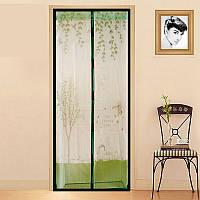 Антимоскитная сетка штора на дверь с магнитами 90х210 см, москитная сетка на магнитах купить, антимоскит, фото 1