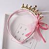 Детская корона - обруч для волос МЕТАЛЛИК розовый ободок коронка детская, фото 2