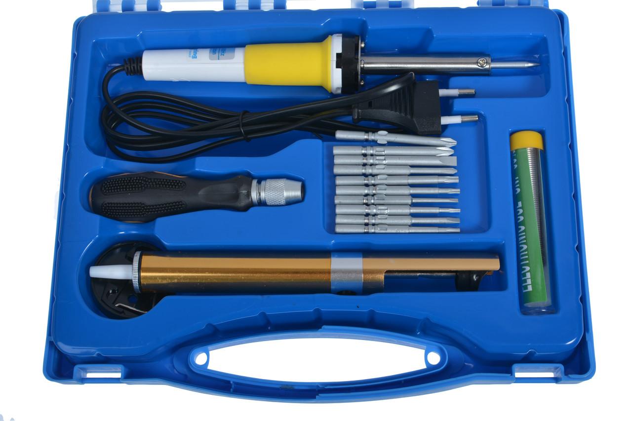 Набор паяльного инструмента ZD-921A в пластиковом боксе