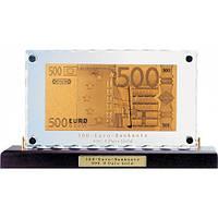 Золотая купюра 500 EURO настольная акриловая