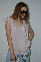 Женская блуза хлопок с декором на плечах Italy, фото 1