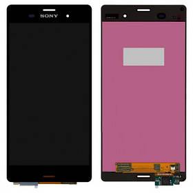 Дисплей (экран) для Sony D6653 Xperia Z3 з сенсором (тачскріном) черный