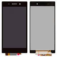 Дисплей (экран) для Sony C6902 L39h Xperia Z1/С6903/С6906/С6943 + с сенсором (тачскрином) черный Оригинал