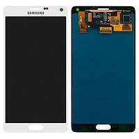 Дисплей (экран) для Samsung N910H Galaxy Note 4 + с сенсором (тачскрином) белый Оригинал