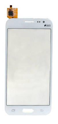 Сенсор (тачскрин) для Samsung J200F/J200G/J200H/J200Y Galaxy J2 белый, фото 2