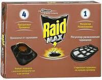 Рейд МАХ Приманки для тараканов 4 шт. + 1 регулятор