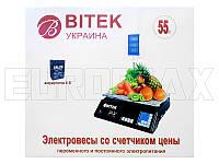 Весы электронные торговые со стойкой BITEK 55кг YZ-208+
