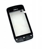 Сенсор (тачскрин) Nokia C5-03/C5-06 с передней панелью Black