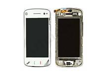 Сенсор (тачскрин) Nokia N97 Mini с передней панелью серебристого цвета White