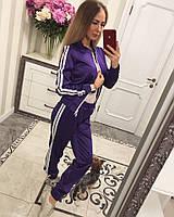 Прогулочный костюм из атласа . Новинка 2017. Купить костюм. Спортивные костюмы женские.