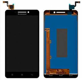 Дисплей (экран) для Lenovo A5000 с сенсором (тачскрином) черный